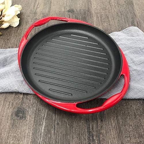 JINRU Haute Qualité 20 / 24Cm Pan Griddle Easy Clean Friture Antiadhésive Poêle Steak Steak en Fonte BBQ Cuisine