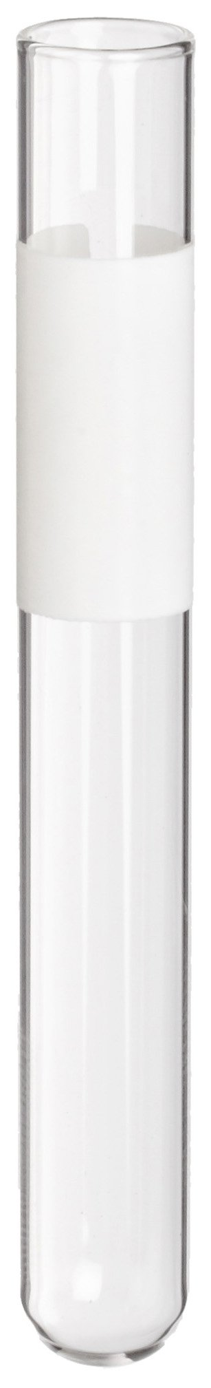 Kimble 10BZXW Borosilicate Glass Mark-M Disposable Culture/Test Tube, with Banded White Label (Case of 1000)