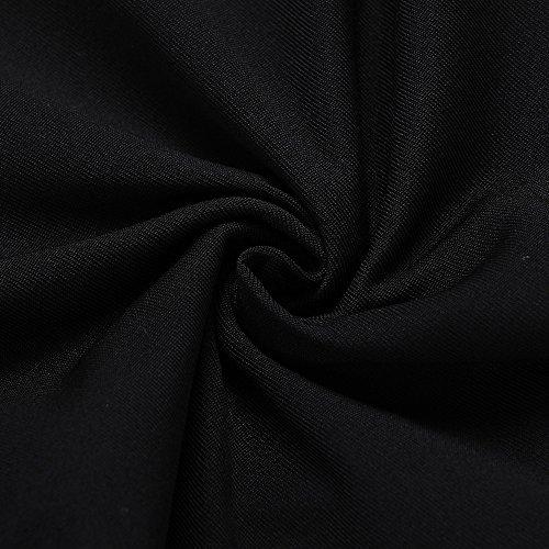Birdfly Robes Élégantes, Femmes Robe Formelle Une Mancherons Ligne Col V Datant Partie Noir