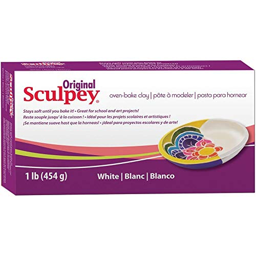 Original Sculpey Sculpting Compound White Oven-Bake Clay - Great for School and Art Projects - 1 Lb, Pack of 3 (Sculpture In Clay)