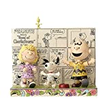 "Enesco Peanuts by Jim Shore Peanuts Comic Strip Stone Resin Figurine, 6.25"""