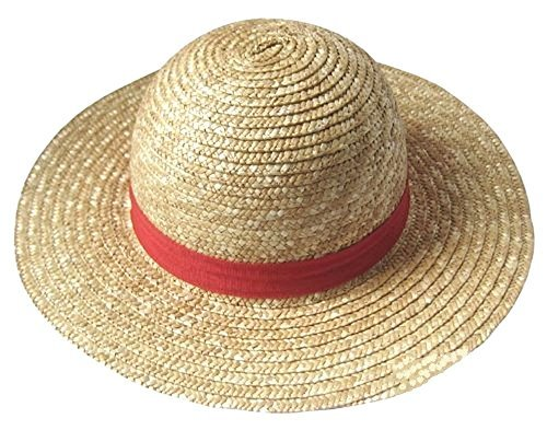 No brand goods] Straw hat Onepiece !! ONE Piece Luffy Cosplay Costume for Tool Port Gas D Ace fire (Hat Luffy)