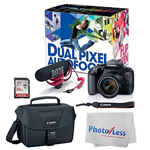 Canon EOS Rebel T7i Digital SLR Camera with 18-55mm Lens Vid