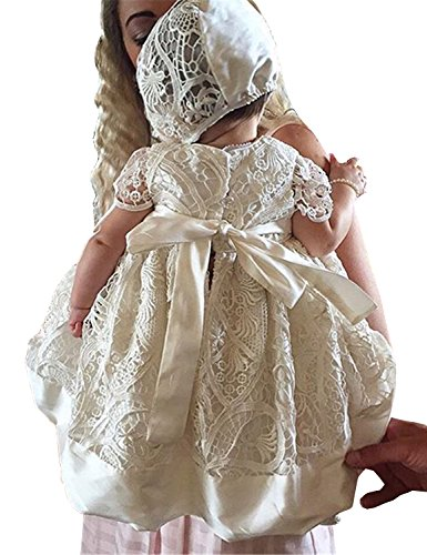 New Girls Christening Baptism Dress - Aorme White Lace Christening Gowns for Girls Baptism Dress 0-24 Months