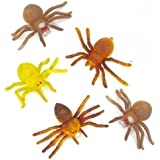 Pack of 6 Large Stretchy Spiders - Great Haloween Scary Party Loot Bag Fillers