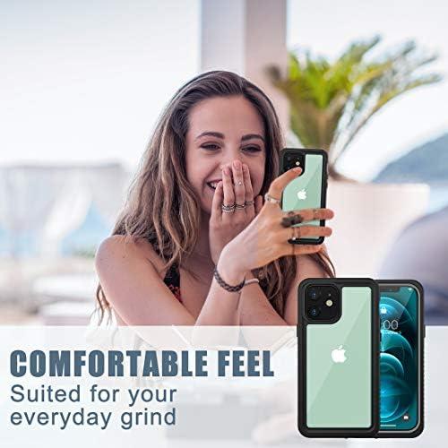 Diverbox for iPhone 12 Waterproof Case,Waterproof Shockproof Dustproof IP68 Full-Body Hard Case Built-in Screen Protector Underwater Outdoor Waterproof Cover for iPhone 12,6.1 in (Clear)