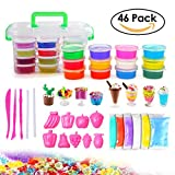 Best Clay Charm Kits - DIY Slime Supplies Kit - 46 Pack Crystal Review