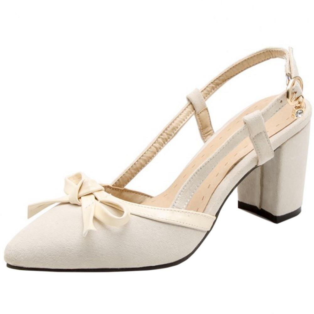 Zanpa Chaussures Femmes Beige Doux 19998 Escarpins Slip on Heels Chaussures Beige 5dfbbe7 - deadsea.space