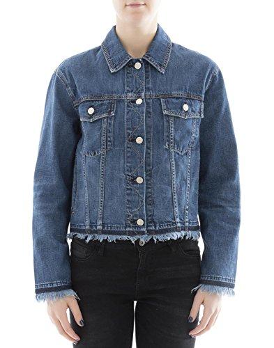 rag & bone Women's W1415k273fri472 Blue Cotton Jacket
