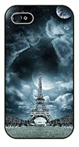 For Ipod Touch 5 Case Cover Fantasy sky, Eiffel Tower - black plastic case / Paris, France