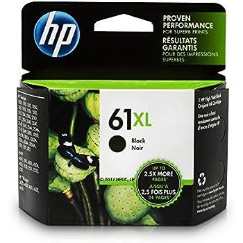 HP 61XL Black Ink Cartridge, Black High Yield (CH563WN)
