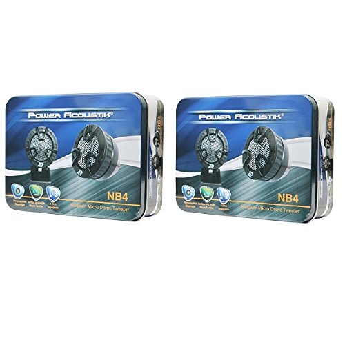 LOT of 2 Power Acoustic NB4 250 watts Car Audio Dome Teeters