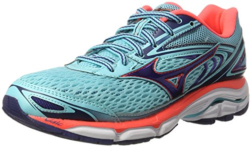 Mizuno Wave Inspire W, Zapatillas de Running Para Mujer Multicolor (Blueradiance/blueprint/fierycoral)