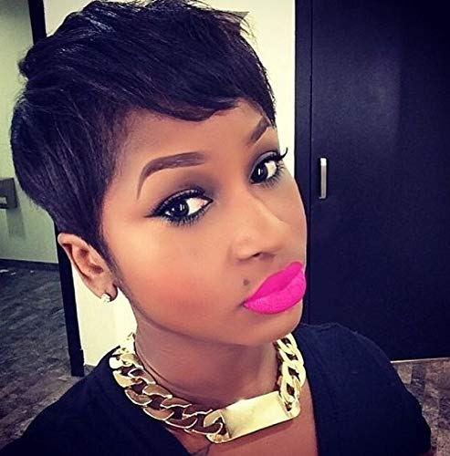 Amazon Com Naseily Short Pixie Hair Cut Synthetic Short Wigs For Black Women Natural Women Hairstyles Heat Resistant Synthetic Hairpieces Beauty