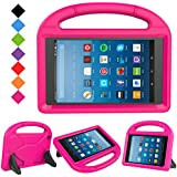 LTROP All-New Fire HD 8 2017 Case - Light Weight Shock Proof Convertible Ultra-Slim Kid-Proof Cover Kids Case for All-New Fire HD 8 Tablet (7th Generation, 2017 Release), Rose