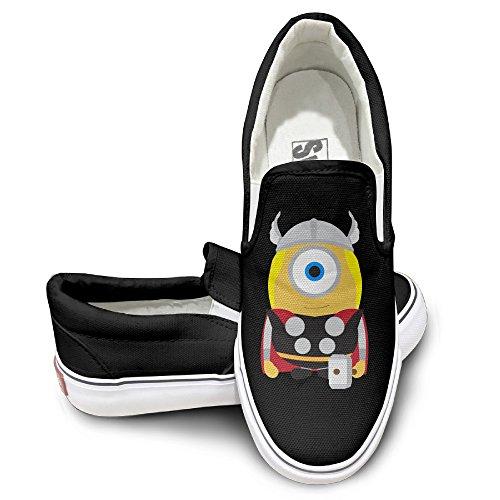 DHome League Of Avenger Thour Oxford Unisex Flat Canvas Sneaker Shoes 43 Black
