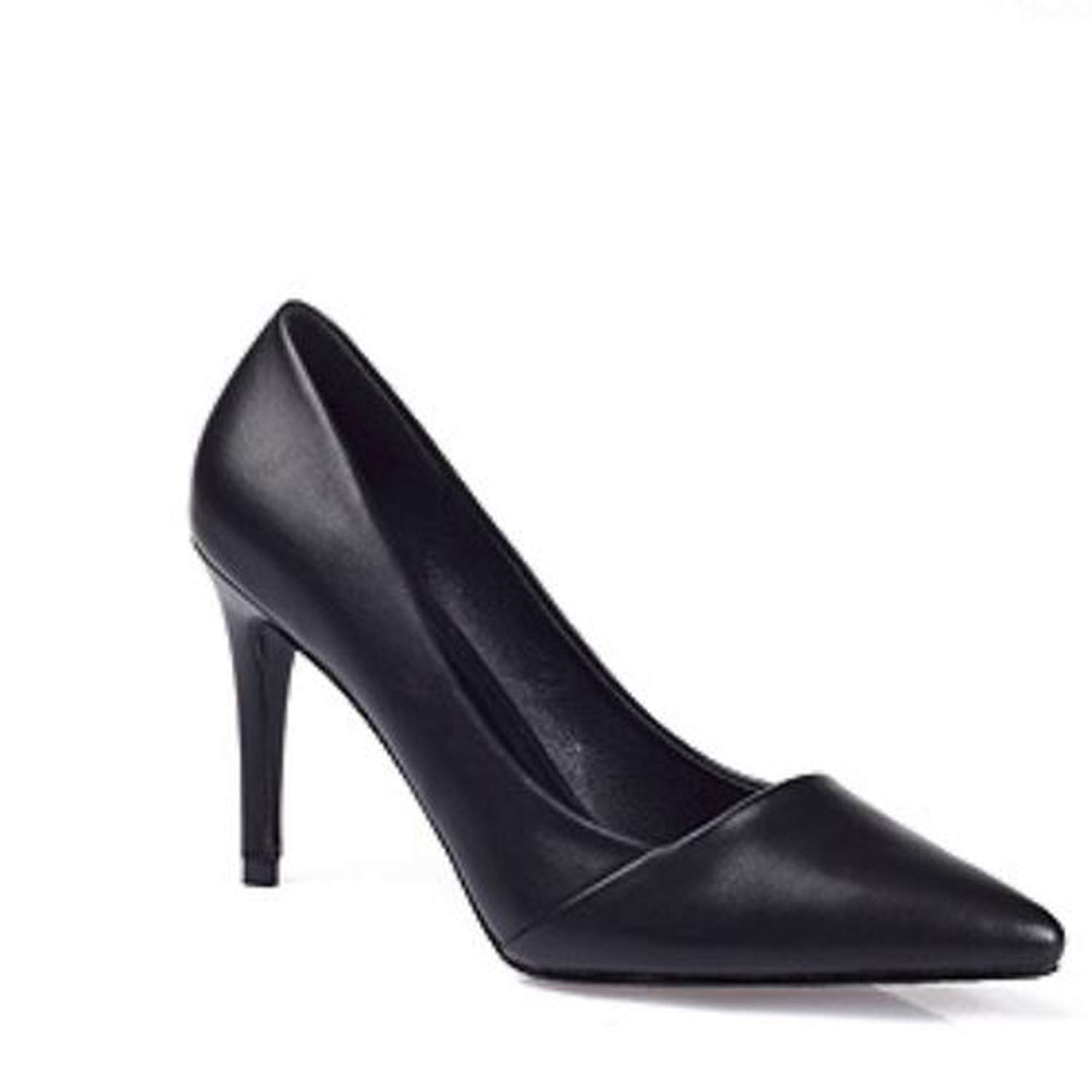 2019 Elegant New Pointed high-Heeled Shoes respectively 5CM 7CM 9CM high Heels with Suede sub-sfoes Woman Shoes,7 cm high Heels,8