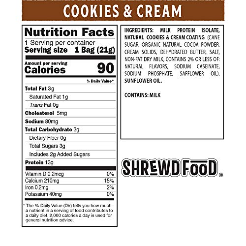 Shrewd Food Cookies and Cream Low Carb Protein Crisps