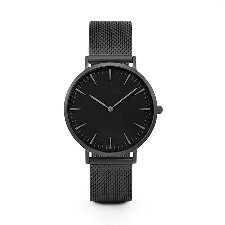 Amazon.com: Dressin Womens Geneva Watch, Fashion Women Men Classic Gold Stainless Steel Analog Quartz Wrist Watch Mesh Bracelet Watch (Black): Clothing
