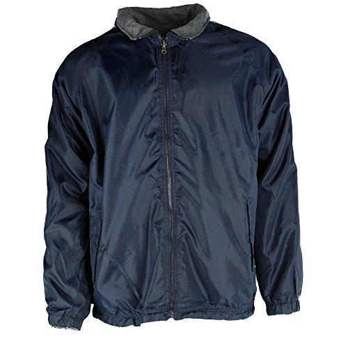 (Ten West Apparel Mens Reversible Fleece and Windbreaker Rain Jacket with Stripes)