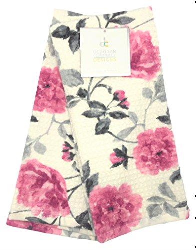 Deborah Connolly Designs Pink Roses and Rosebud Blooms Kitchen Towel (Rosebud Kitchen)