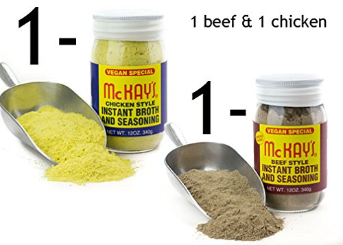 1 Beef & 1 Chicken McKay's Instant Broth and Seasoning