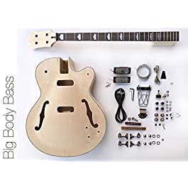 DIY Electric Bass Guitar Kit – Hollow Body Bass Build Your Own Bass Kit