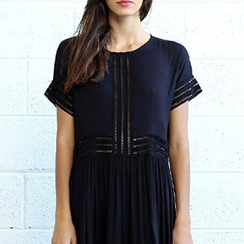 Christmas sale,Eyelet Trim Maxi Dress