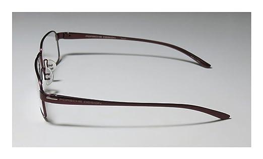 8d3fa4260f9 Porsche Design Rx Eyeglasses Frames P8158 B 57x14 Dark Red Titanium Japan   Amazon.co.uk  Clothing