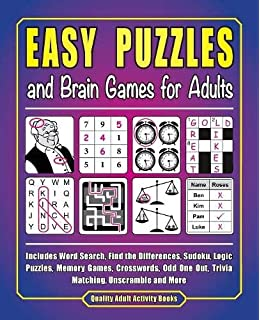 Brain Puzzles for Seniors with Dementia : Mazes for