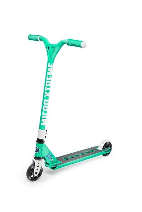 Micro Trixx Scooter Freestyle, Inlcluye Pegs, Peso 3,75kg, Carga máx: 100kg, Rodamientos ABEC7, Abrazadera Triple, Plataforma Aluminio, Dirección HIC