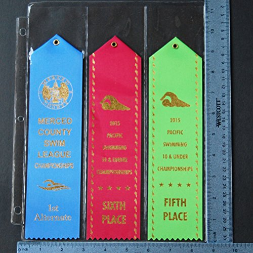 10 Swimming Ribbon Album LARGE RIBBONS Organizer Storage PAGES Award Ribbon Display Gift Swim