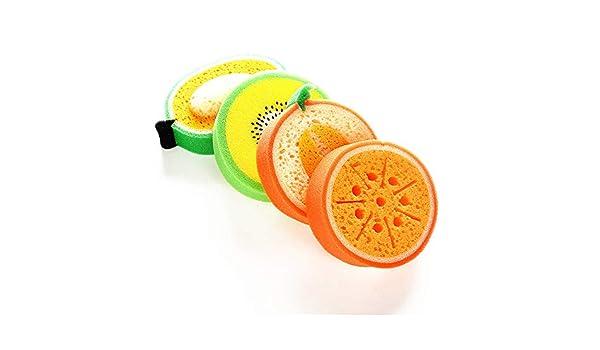 Trapos de limpieza de cocina Lavavajillas esponja suave de frutas ...