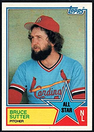 7fb5d55202f 1983 Topps Baseball  407 Bruce Sutter St. Louis Cardinals AS MLB Trading  Card from