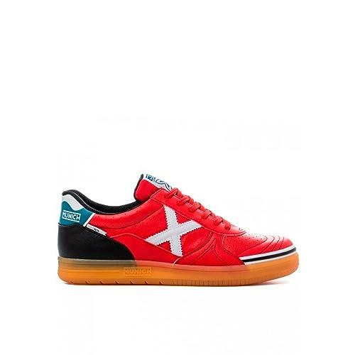 02de710662d67 Munich Scarpe da Calcetto Uomo Rosso Rosso Rosso Size  46  Amazon.it  Scarpe  e borse