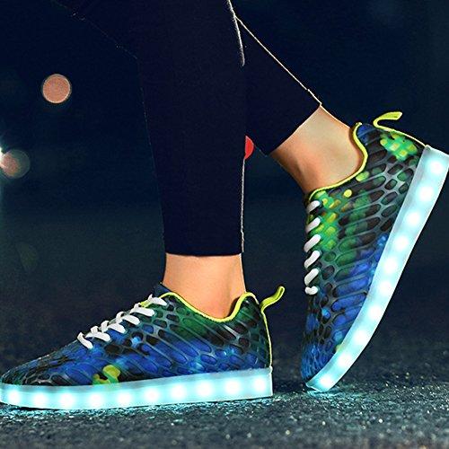 Padgene Amant Chaussures Usb Camouflage Sneakers Baskets Adulte 7 Couleurs Vert Charge Led De Lumineux Sport Homme Mixte Femme r18CrqZWw