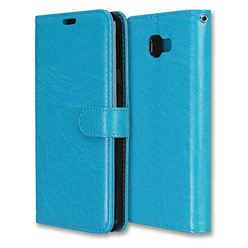 CAXPRO Galaxy A7 2016 Case, Shockproof Wallet Cover for Samsung Galaxy A7 2016, Slim Leather Notebook Style Case with Soft TPU Inner Bumper, Blue