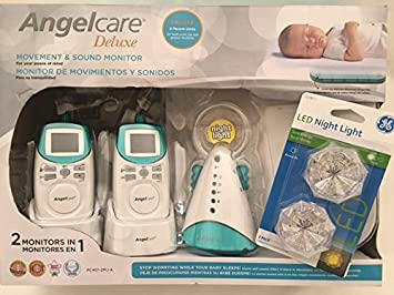 AngelCare AC-401-2PU-A New Model Deluxe Movement Sound Monitor with Night
