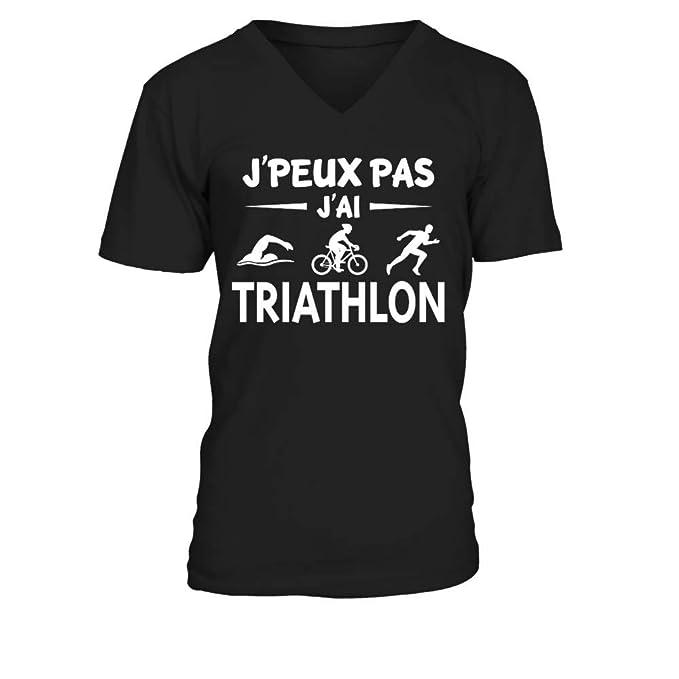 9c99e9b9ca193 t-Shirt drôle Humour j peux Pas J Ai Triathlon  test 4  Amazon.fr ...