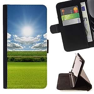 Momo Phone Case / Flip Funda de Cuero Case Cover - Naturaleza Campo Sol - Samsung Galaxy Note 4 IV