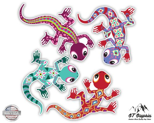 Cute Lizards Set of 4 - 6