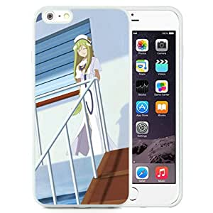 Popular And Unique Designed Cover Case For iPhone 6 Plus 5.5 Inch TPU With Alicia Florence Aria Girl Walking Shadow white Phone Case