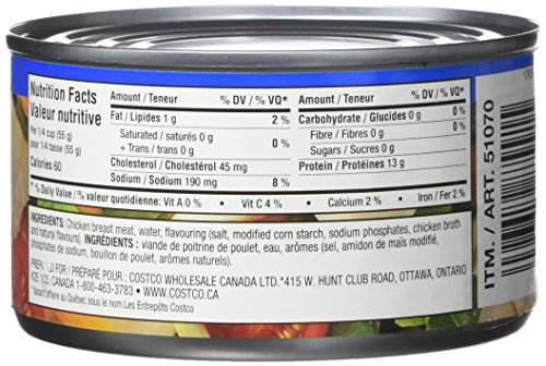 Kirkland Signature Chicken Breast Packed In Water Premium Chunk 6 12 5 Ounce Cans Healthy