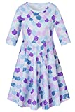 7 Elegant Vintage Light Mauve Plum Lilac Blue Green Dot Mermaid Frocks for Girls Casual Tank Easter Dress Summer Fall Simple Daily Clothes, xs