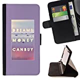 Ihec-Tech / Flip Wallet Diary PU Leather Case Cover for Sony Xperia M2 - Can Buy Text Poster
