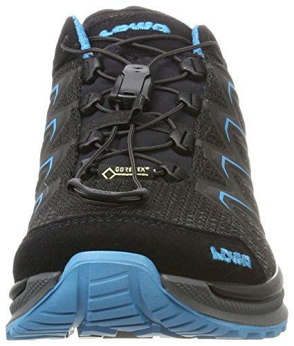 Lowa Maddox GTX Lo WS, Zapatos de Senderismo Para Mujer Negro (Black/turquoise)