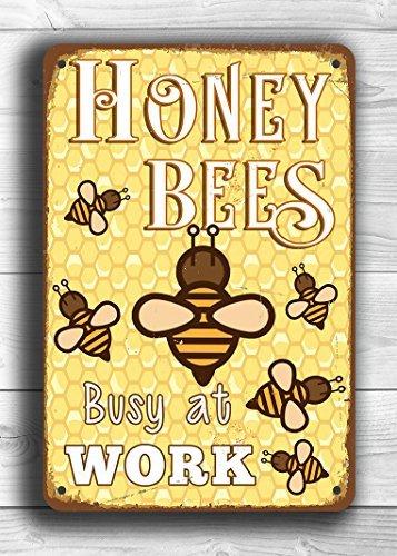 Türschild Imker aus Holz Bienen Bienenzüchter Deko grün