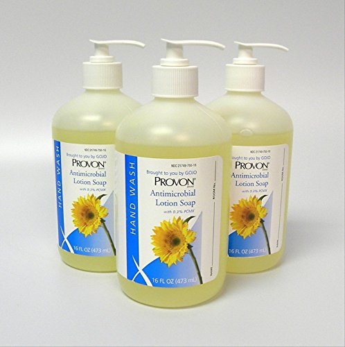 Provon 4303 Antimicrobial Lotion Soap 16 oz Pump Bottles (3 Pack)