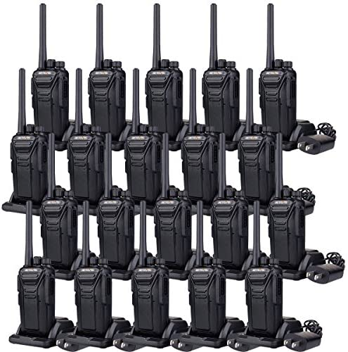 Case of 20,Retevis RT27 2 Way Radio Walkie Talkies Long Range Rechargeable 22 CH Scan USB VOX Heavy Duty Business Two Way Radio