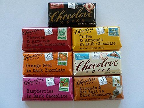 Chocolove Mini - Premium Chocolate 1.2 Oz. (7 Pcs. Assorted Mini Bar Combo) ()